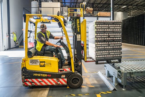 A man working in the warehouse